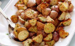 Sarımsaklı Kavrulmuş Patates