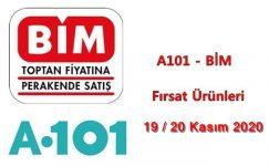 A101, BİM Fırsat Ürünleri ( 19 – 20 Kasım 2020 )