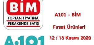 A101, BİM Fırsat Ürünleri ( 12 – 13 Kasım 2020 )